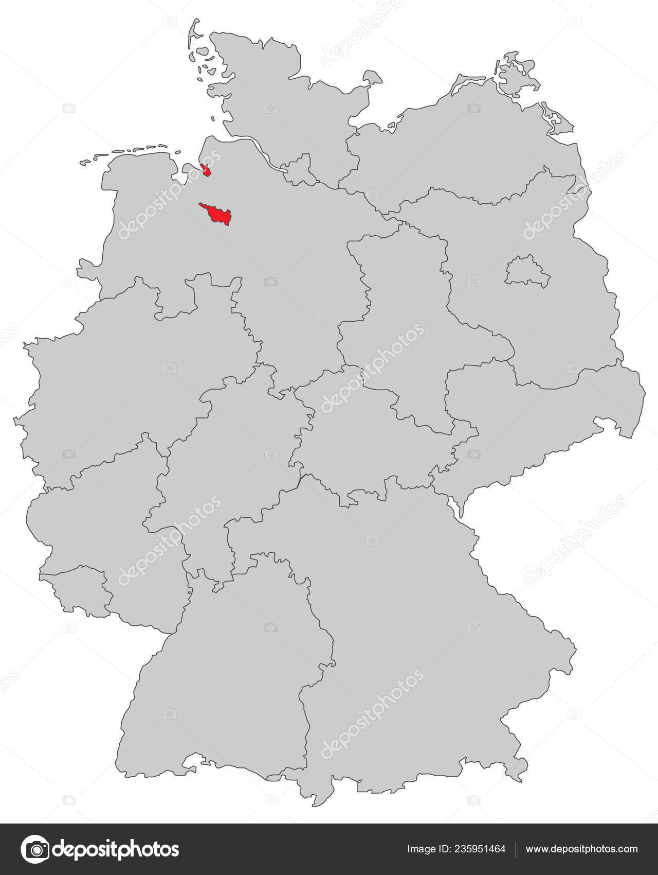 Bremen Map Germany High Detailed Stock Vector C Ii Graphics 235951464