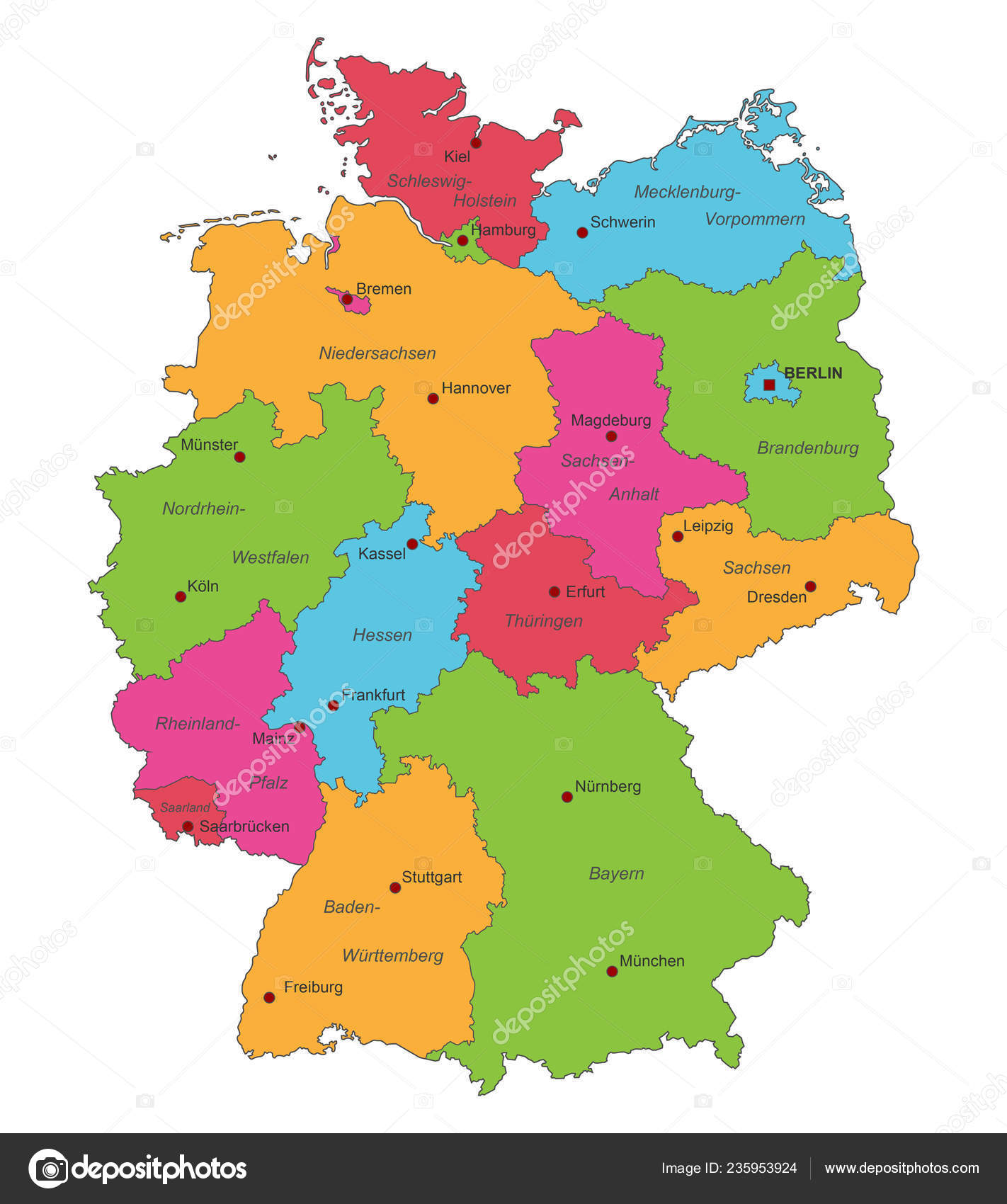 Germany Map Germany High Detailed Stock Vector C Ii Graphics