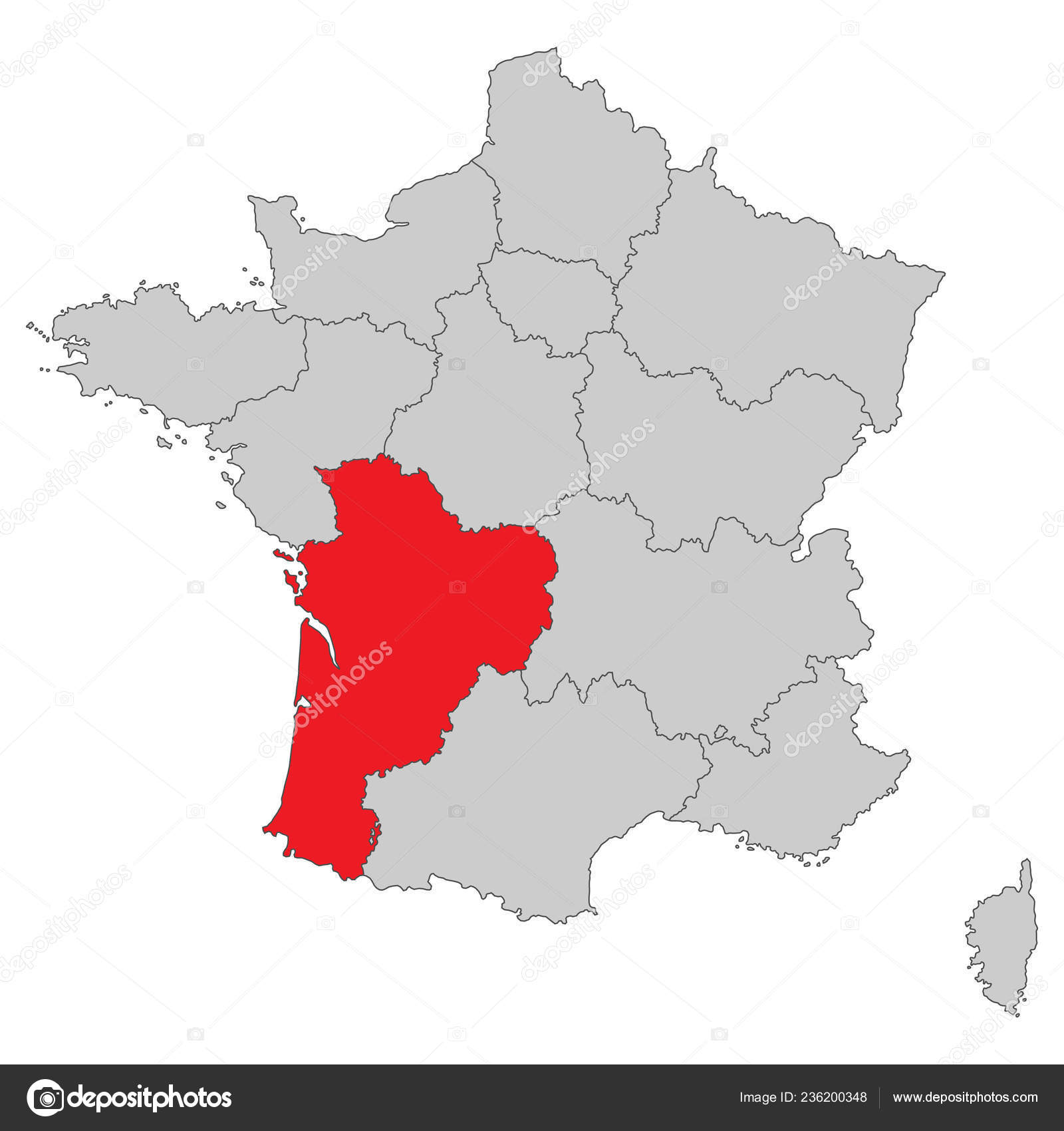 Map Of France Detailed.France Map France High Detailed Stock Vector C Ii Graphics 236200348