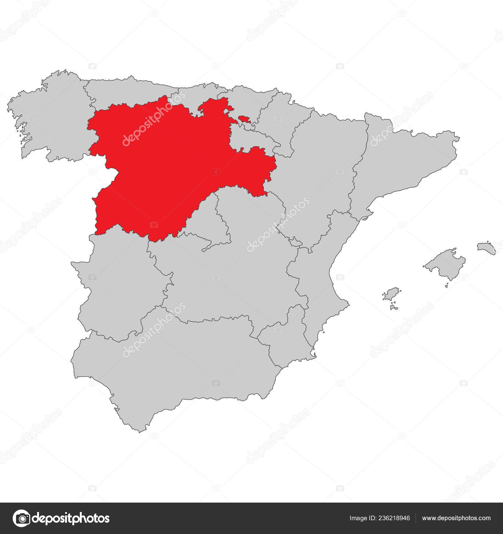 Map Of Spain Leon.Spain Map Spain Castile Leon High Detailed Stock Vector C Ii