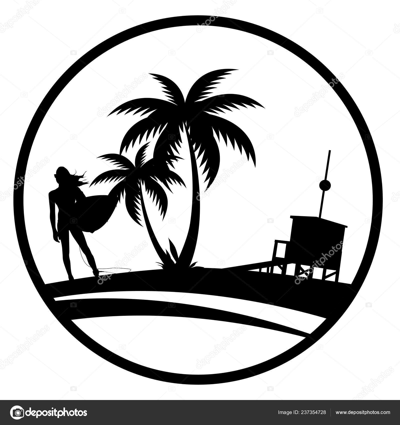 summer icon sexy surfer girl icons stock vector c ii graphics 237354728 https depositphotos com 237354728 stock illustration summer icon sexy surfer girl html