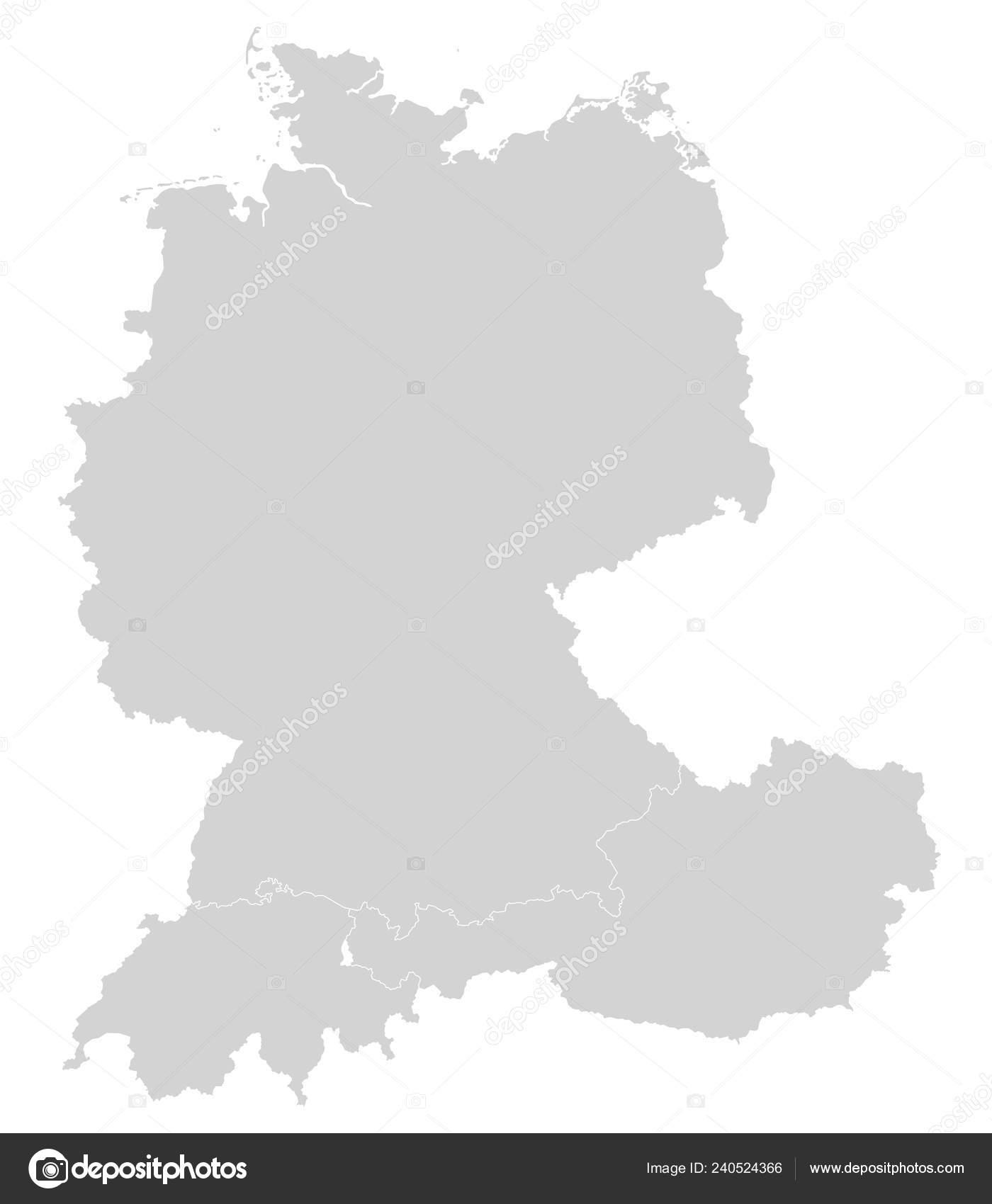 Karte Deutschland österreich.Karte Von Deutschland österreich Und Der Schweiz Stockvektor Ii