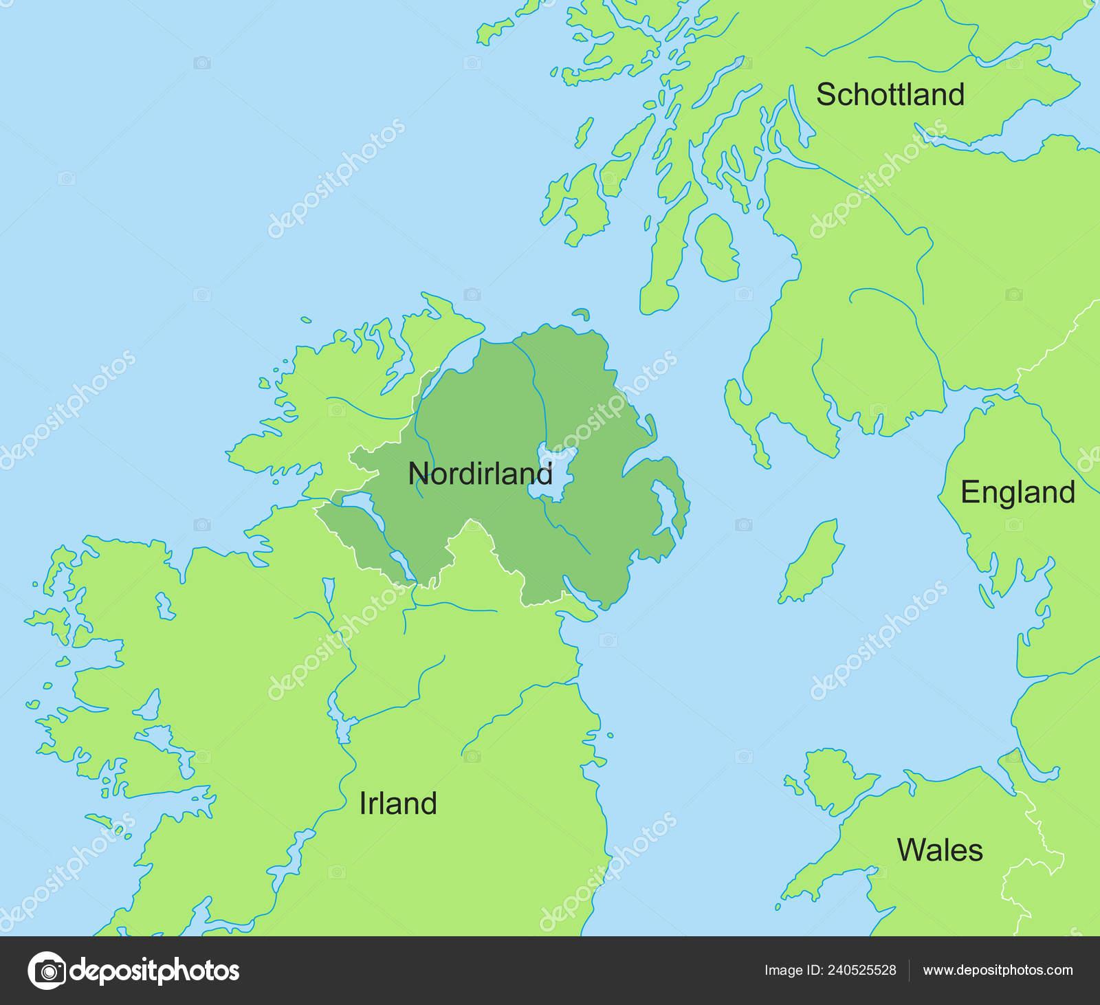 Mapa Irlanda Del Norte.Mapa Irlanda Del Norte Vector De Stock C Ii Graphics
