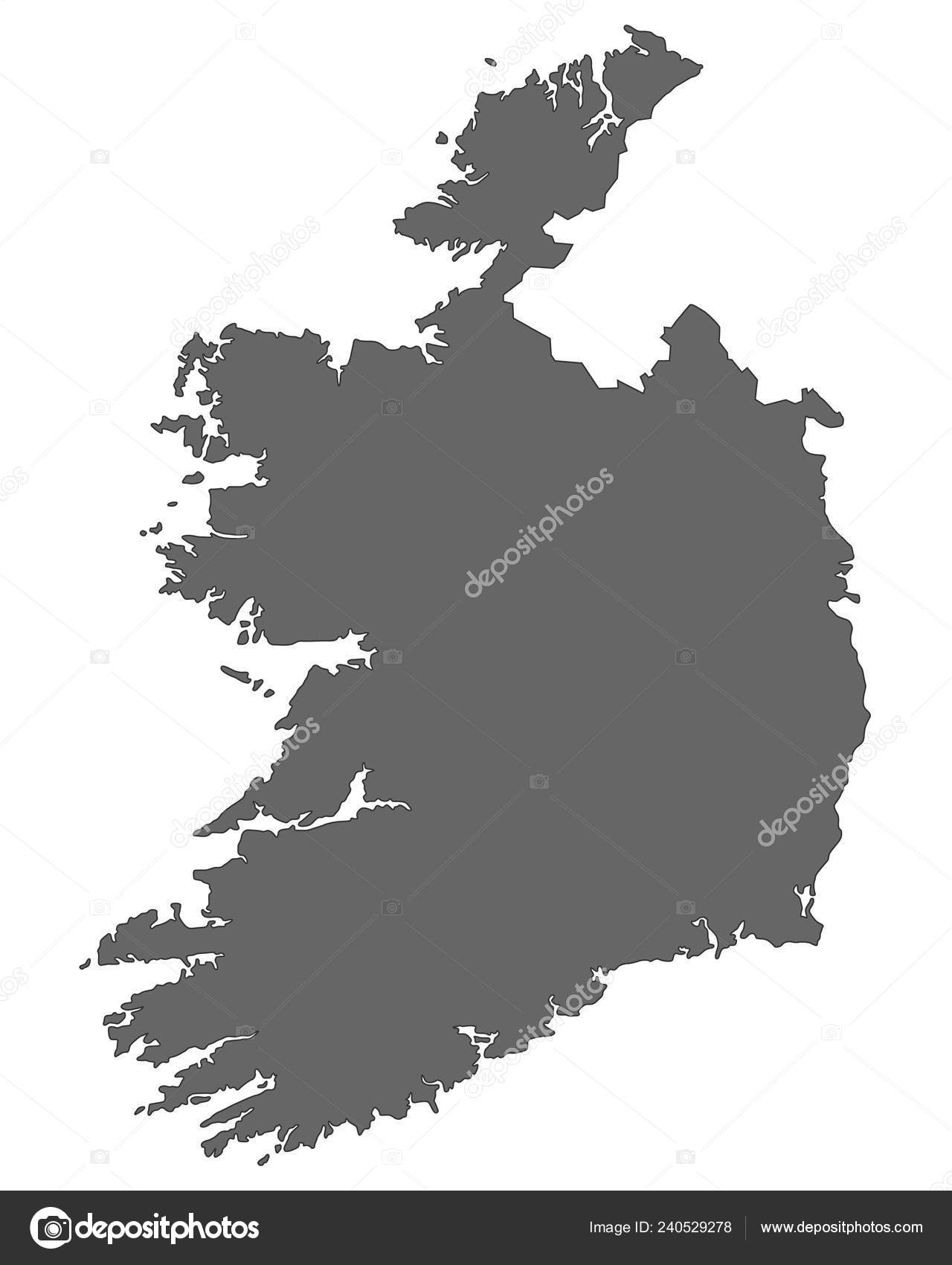 Map Of Ireland 1600.Map Ireland Detailed Vector File Stock Vector C Ii
