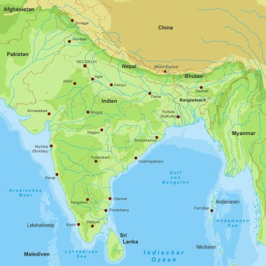 Map of India (detailed vector file)