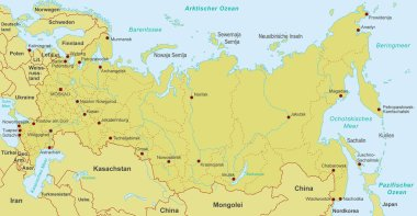 Map of Russia - high detailed vector