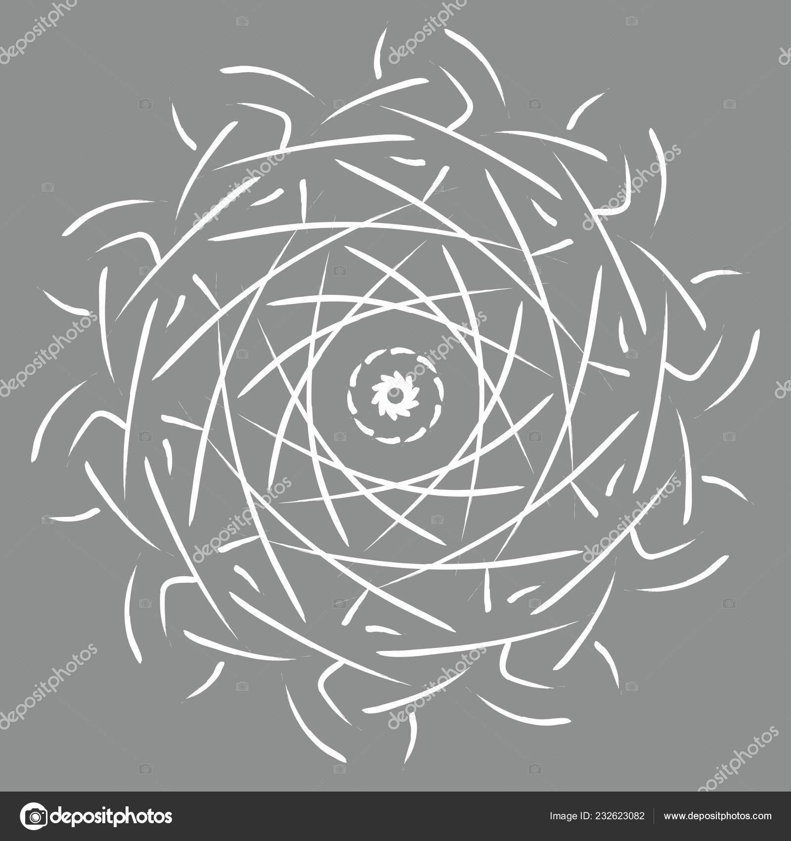 Kleurplaten Volwassenen Abstract.Mandala Illustratie Kleurplaten Voor Volwassenen Ronde
