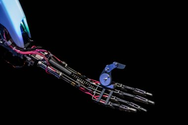 Mechanical hand of robot, close up view