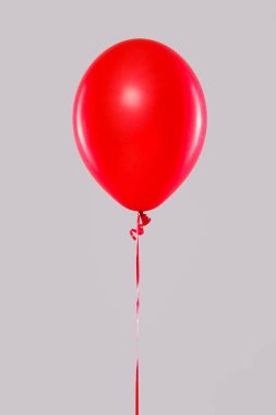 One red balloon isolated on gray stock vector