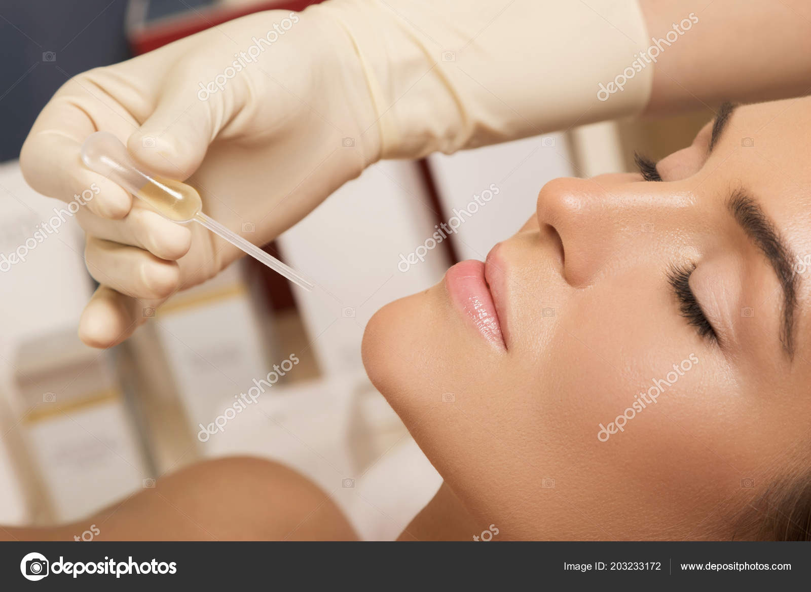Beautiful Woman Beauty Salon Skincare Treatment Stock Photo C Ay Photo 203233172