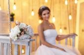 Fotografie Kytice z umělých květin na svatbu