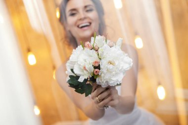 Bouquet of artificial flowers for wedding