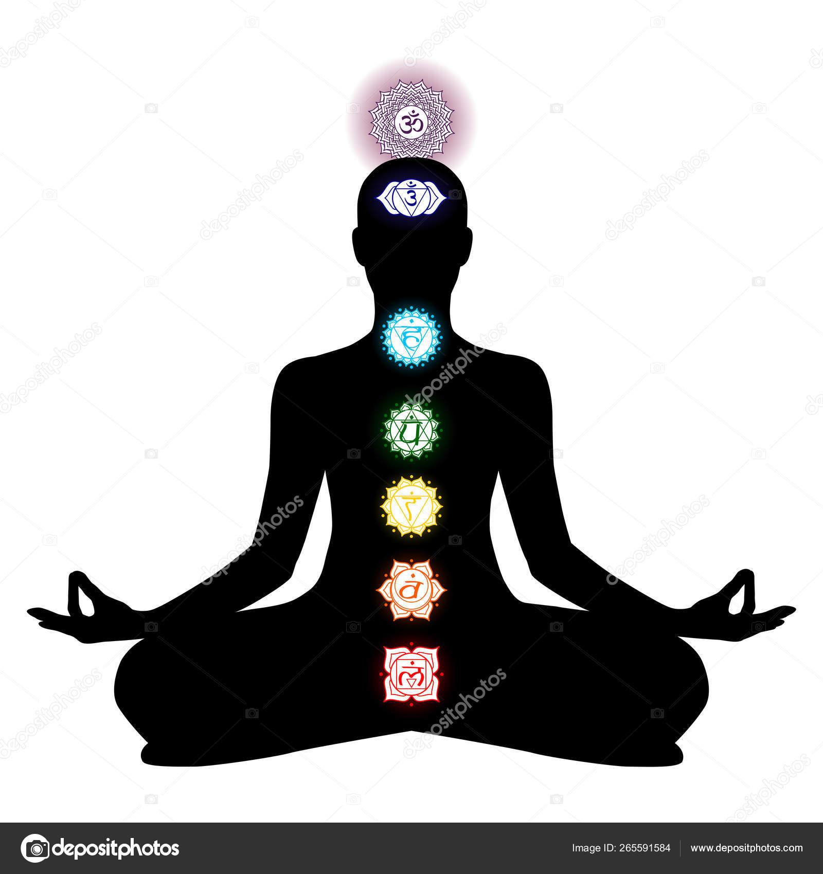 Chakra Cakra Tantric Hinduism Buddhism Vajrayana Meditation Yoga Stock Vector C Sunnychicka 265591584