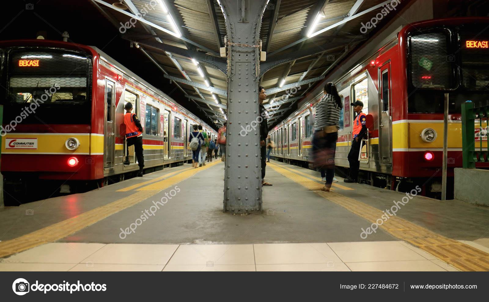 Jakarta Indonesia April 2018 Commuter Line Jakarta Kota Railway