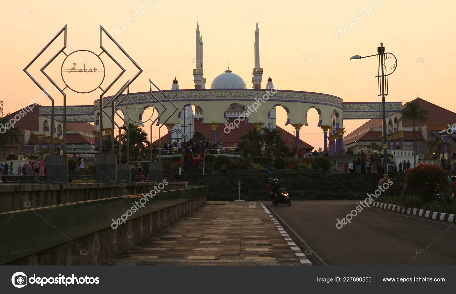 Semarang Indonesia June 2018 Great Mosque Central Java Masjid