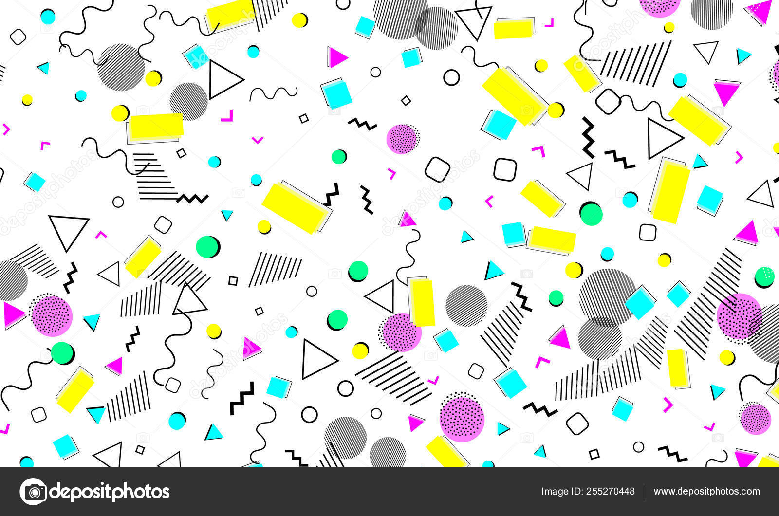 Pop art color background  Memphis pattern — Stock Vector
