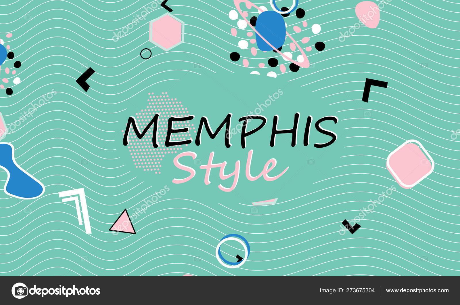 Memphis  90s pattern  Geometric shapes — Stock Vector © KrikHill