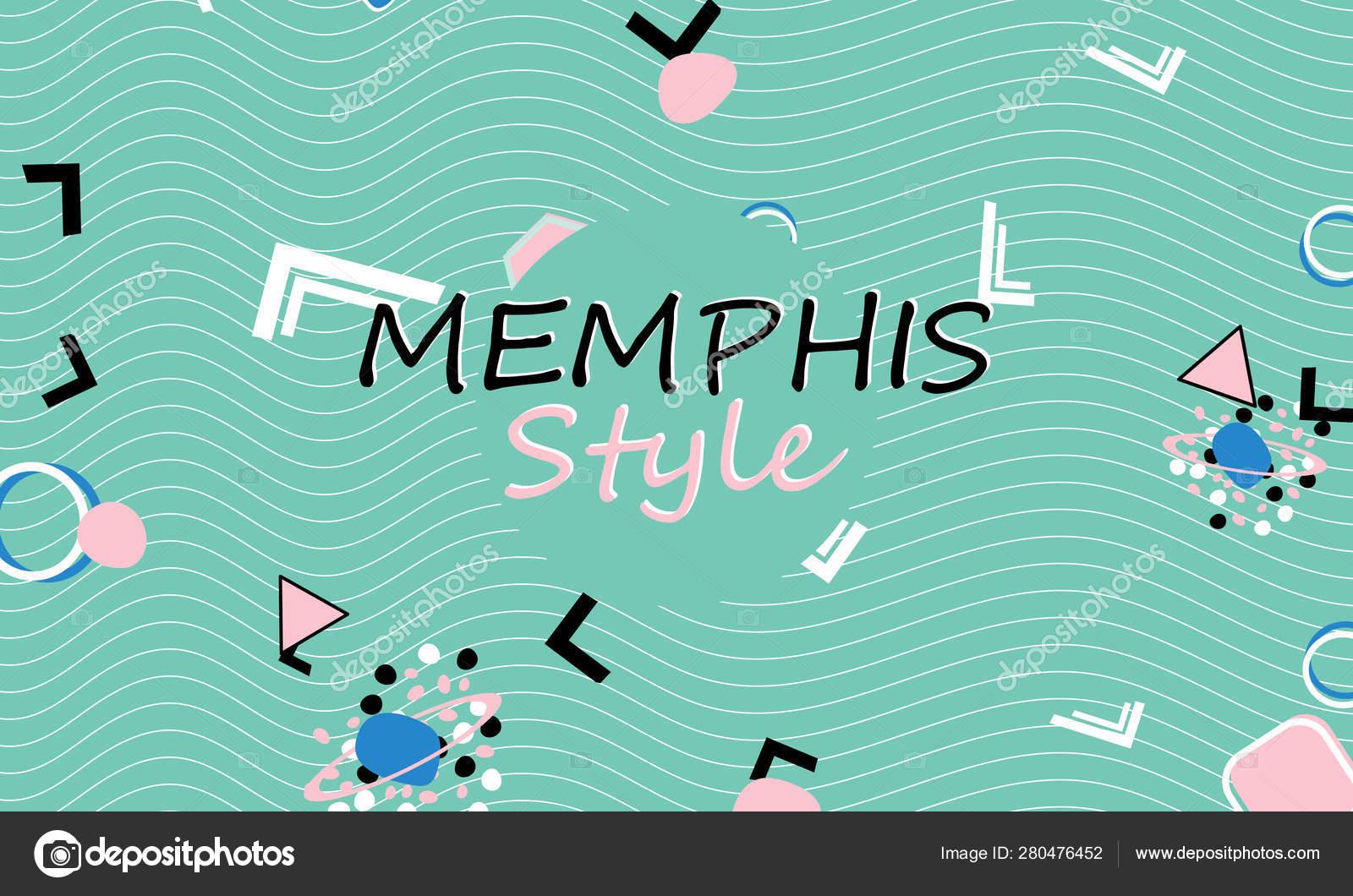 Memphis  90s pattern  Geometric shapes — Stock Vector
