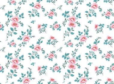 """Картина, постер, плакат, фотообои """"seamless pattern with beautiful peony flowers and leaves on white background. Fashion design. Vector illustration."""", артикул 282773032"""