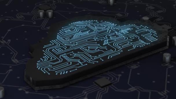 Umělá inteligence digitální síť připojena