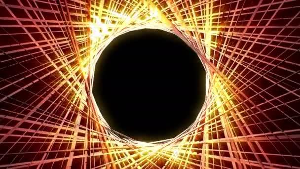 Lesklé 3d linie kruh 4k