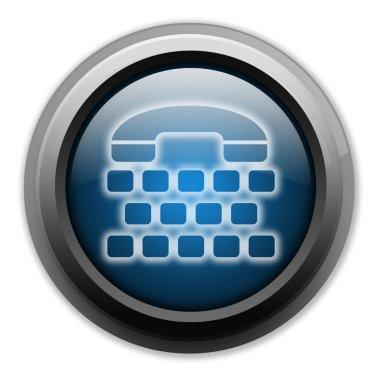 Icon, Button, Pictogram with Telephone Typewriter symbol