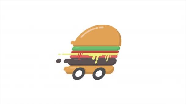 Vysokorychlostní hamburger, rychlá dodávka