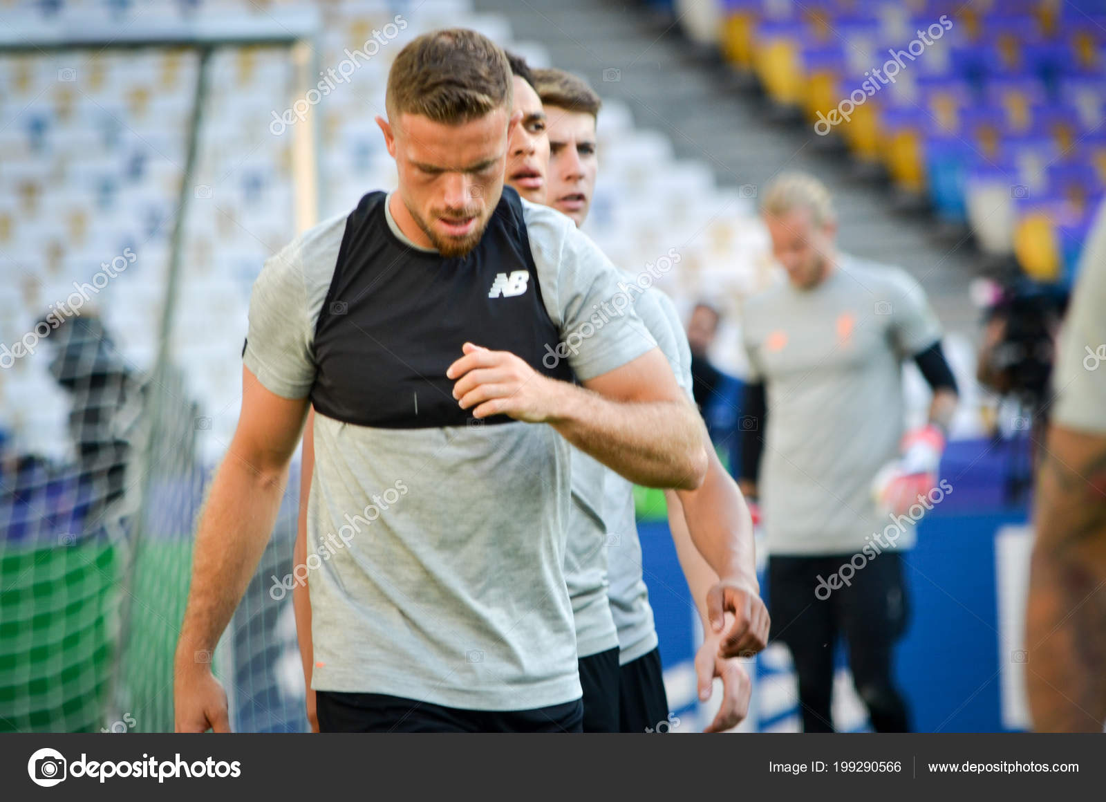 261045481f61b8 Kyiv Ukraine May 2018 Jordan Henderson Training Football Players Liverpool  — Stock Photo