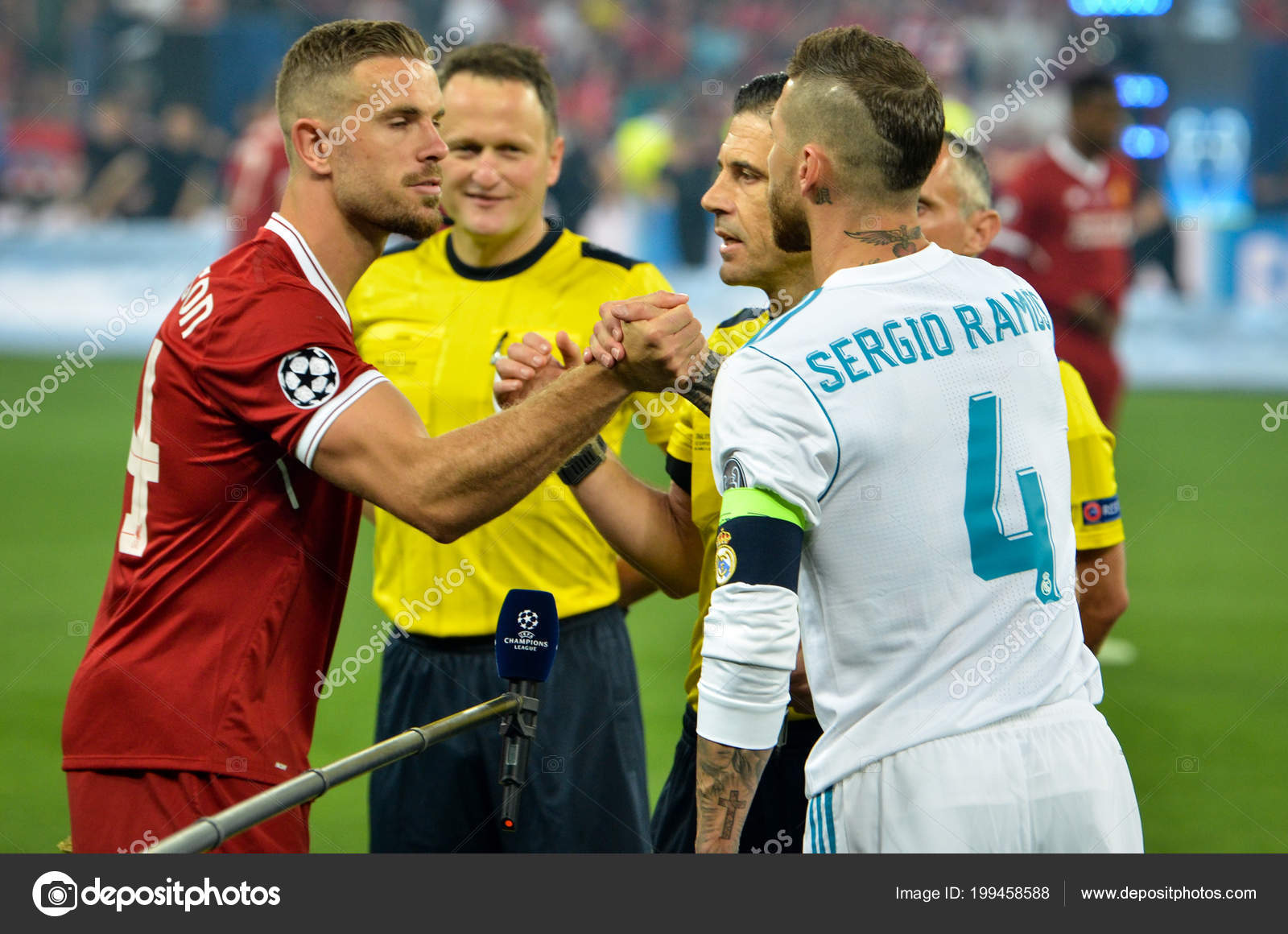 aeb924c888bb9f Kyiv Ukraine May 2018 Sergio Ramos Jordan Henderson 2018 Uefa — Stock Photo