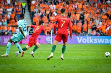 PORTO, PORTUGLAL - June 09, 2019: Cristiano Ronaldo player durin