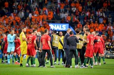 PORTO, PORTUGLAL - June 09, 2019: Diogo Jota and Portugal's team