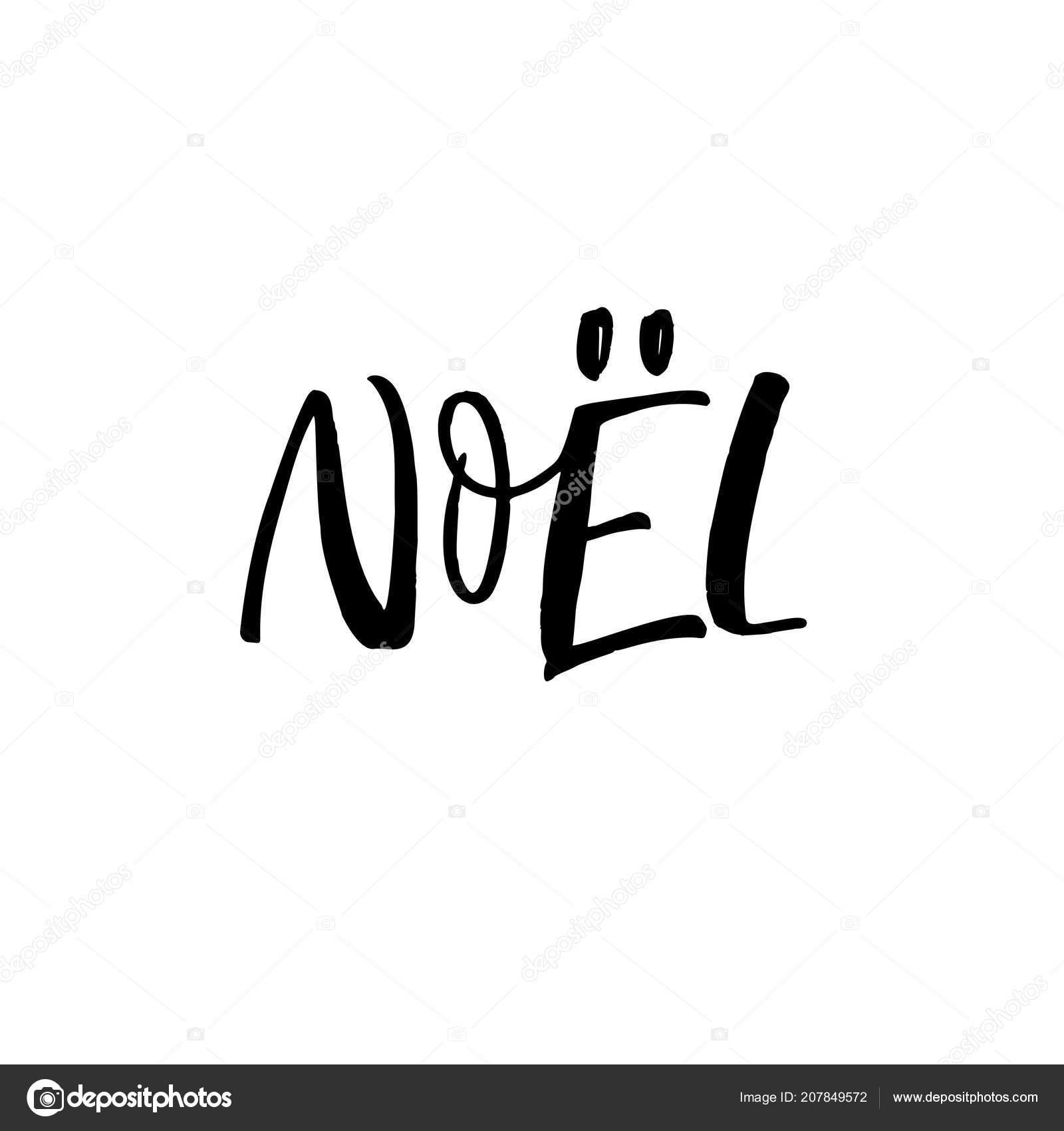 Frase Noel Feliz Natal Francês Letras Férias Ilustração