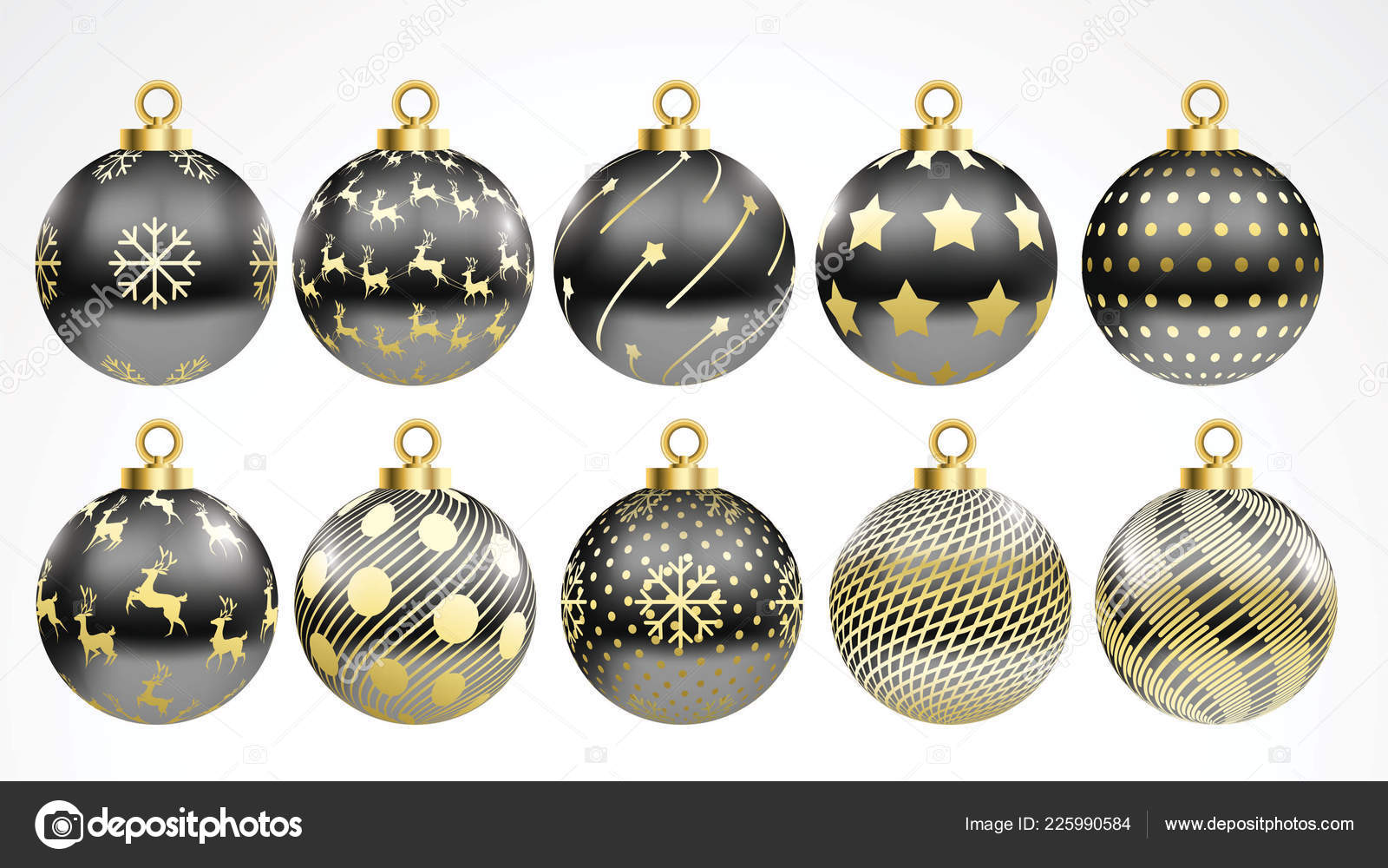 Black Gold And Silver Decorations  from st4.depositphotos.com