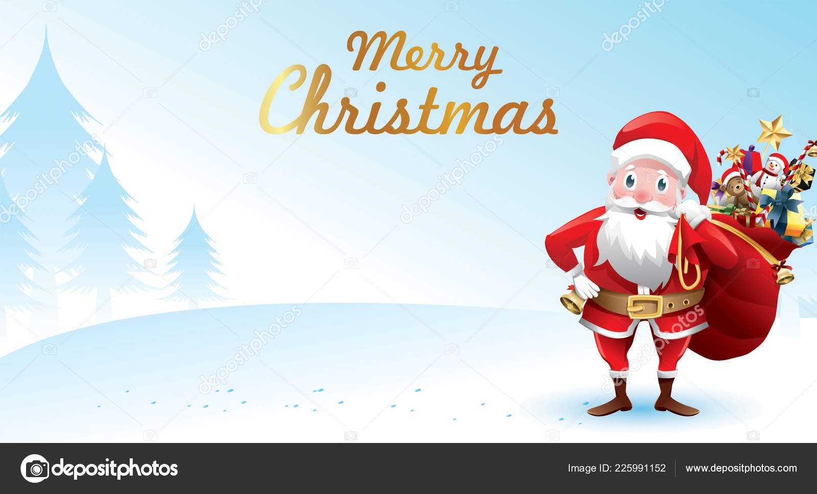 Merry Christmas And Happy New Year Christmas Card Santa