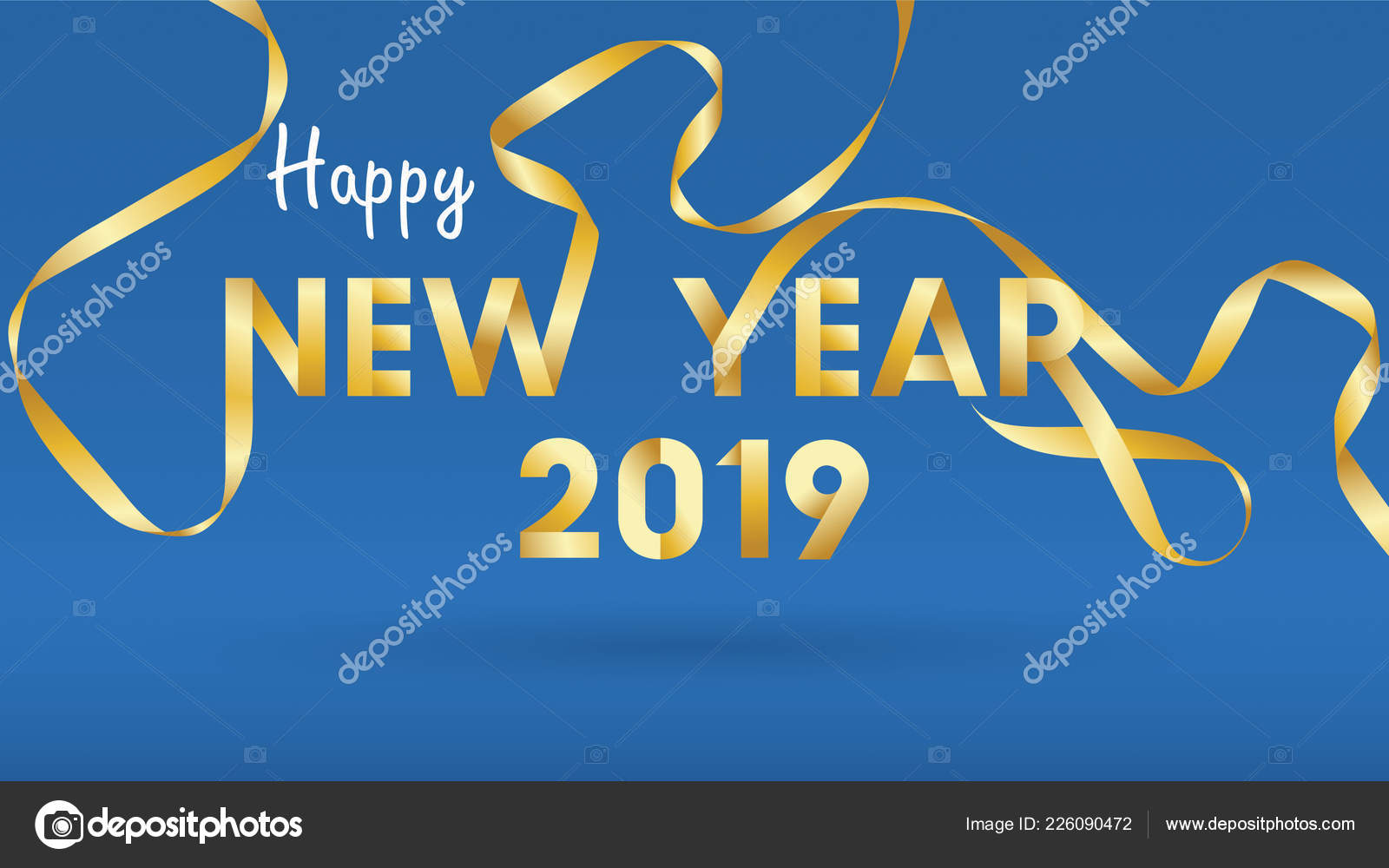 2019 happy new year background for seasonal flyers and greetings card or invitations background with fireworks simple modern and stylized vector vector