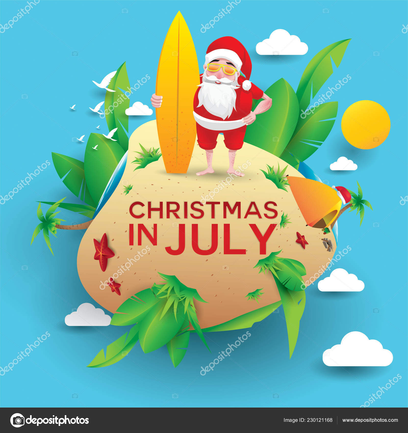 Christmas In August Poster.Christmas June July August Poster Marketing Advertising