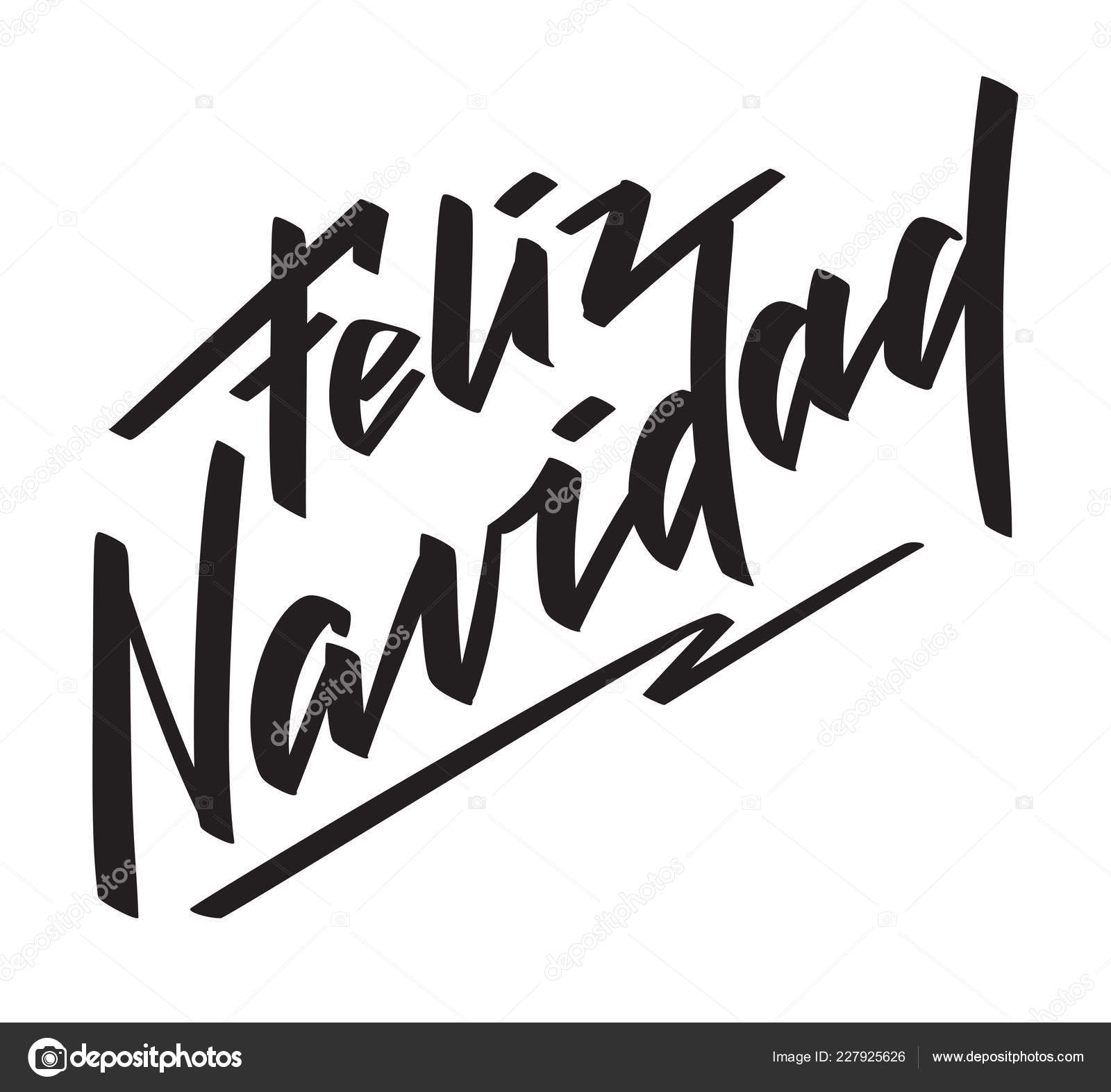 Feliz Navidad - texto en Español escrita a mano ...