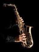Photo saxophonist playing alt saxophone