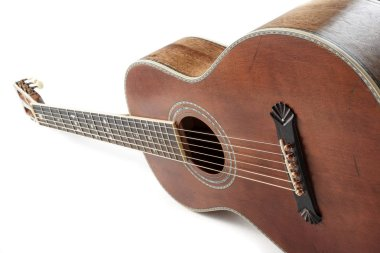 vintage acoustic blues guitar isolated