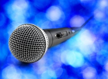 microphone in blue ambient
