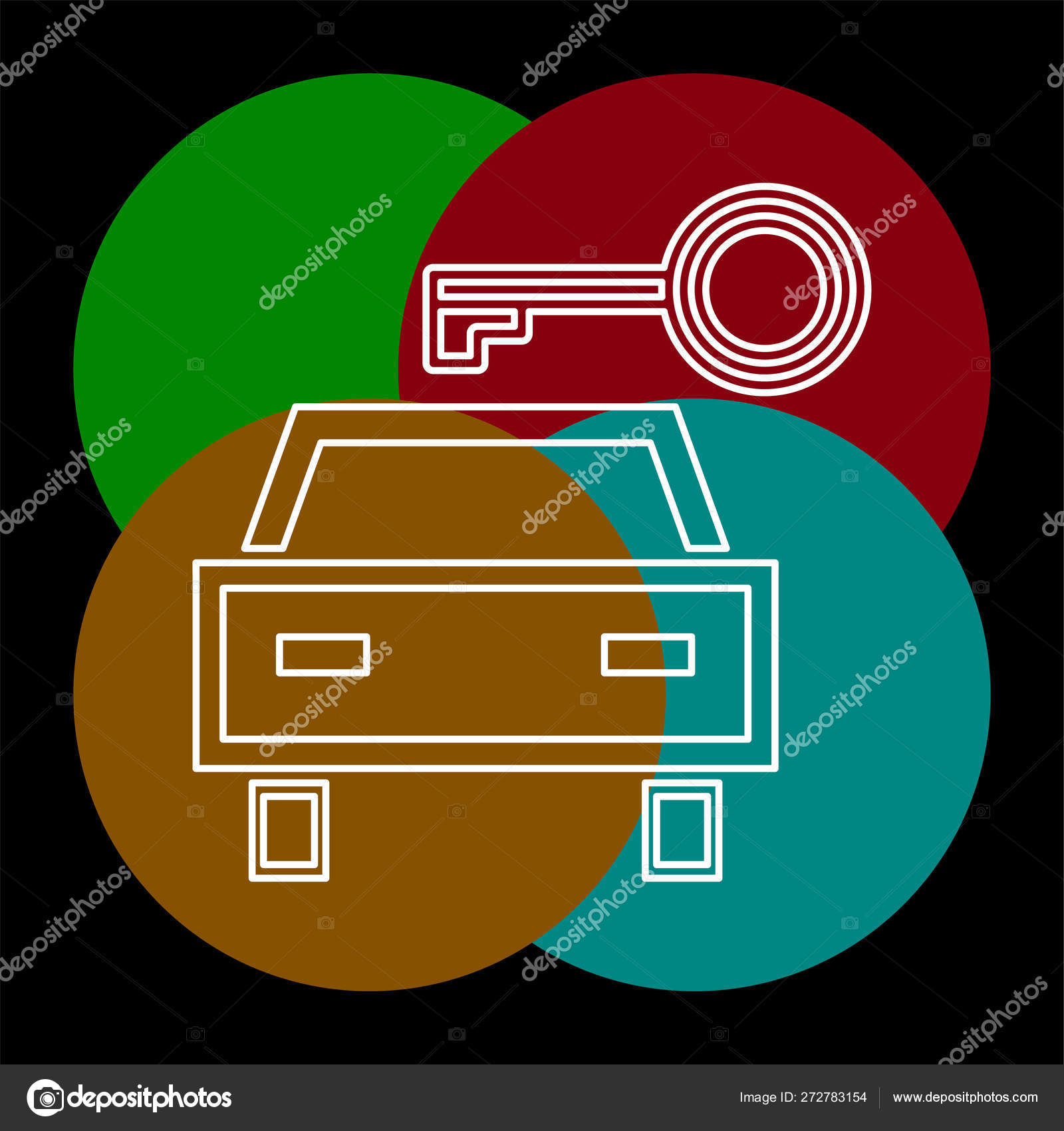 vector car rentals label, logo, icon, emblem  concept image for automobile  repair service, spare parts store, rent a car  thin line pictogram -  outline