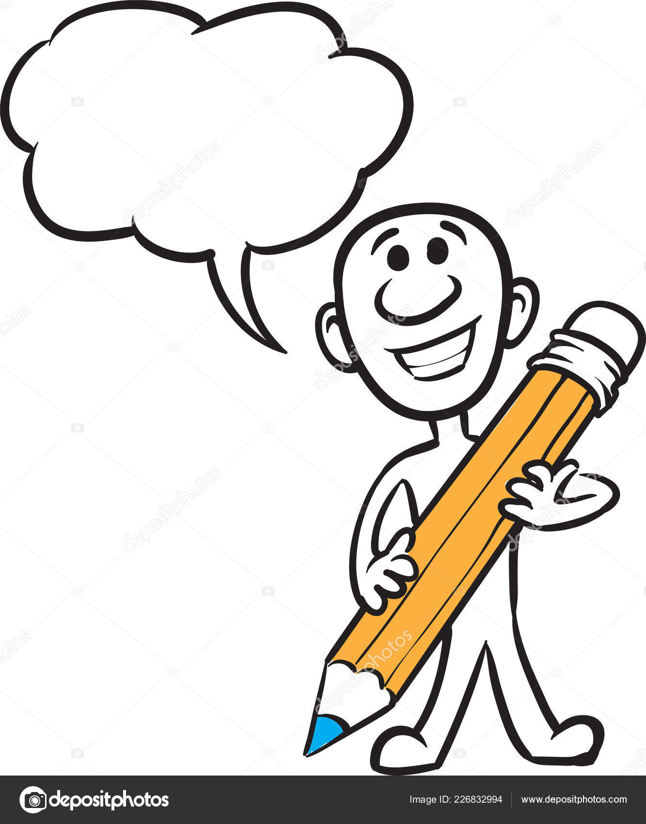 Drawings Easy Pencil Of Cartoons Vector Illustration Cartoon