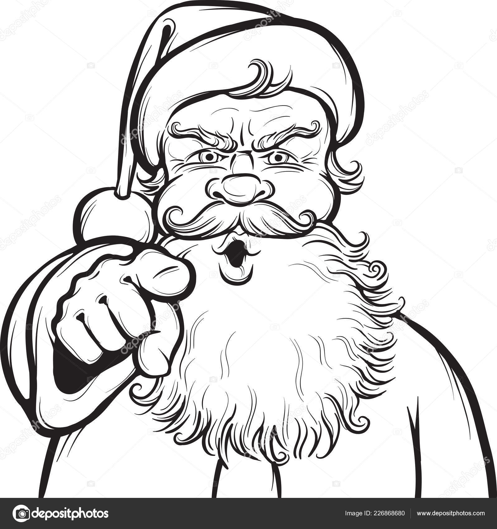 christmas coloring page santa stock vector