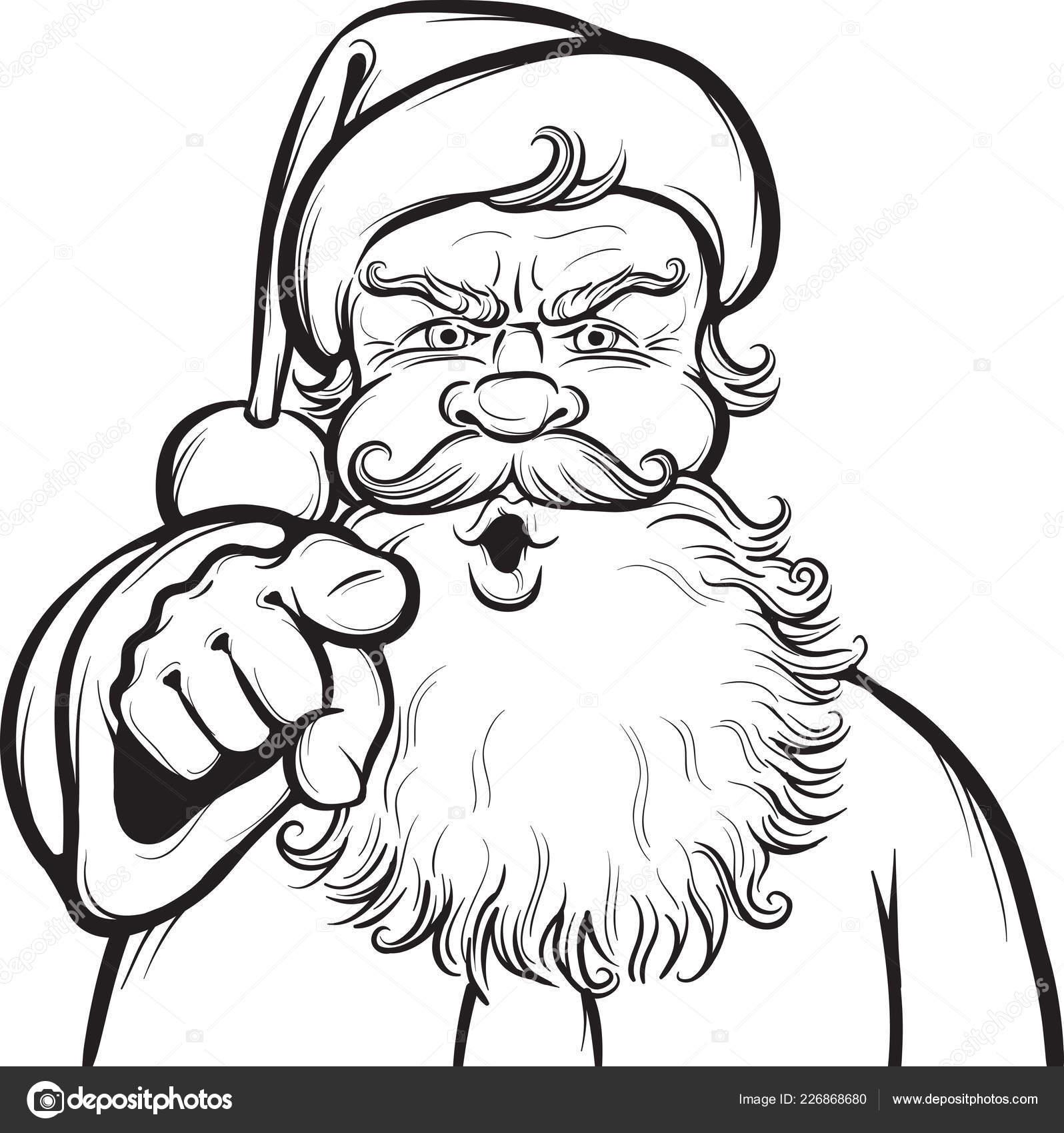 christmas coloring page santa stock vector