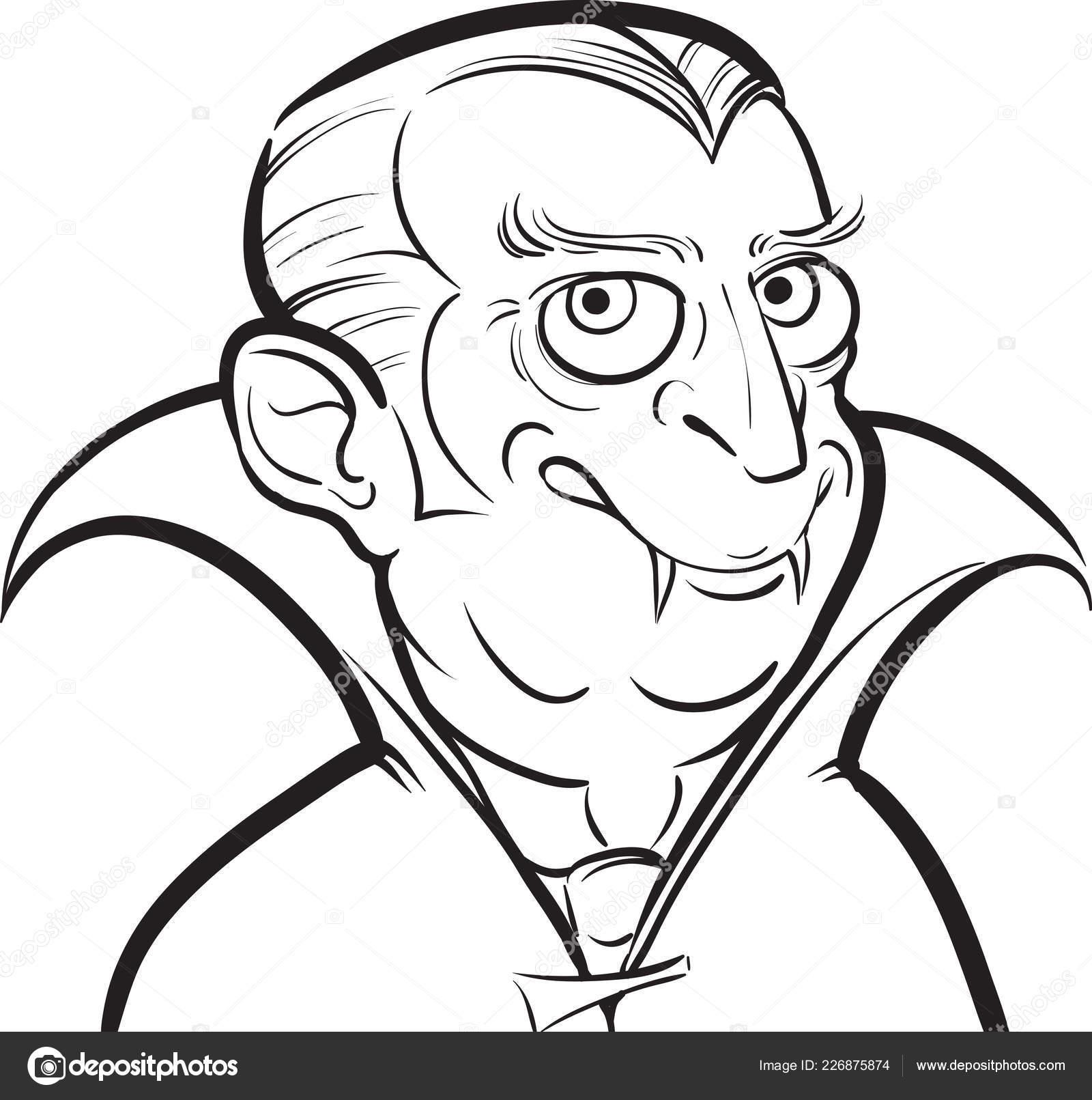 Foto Vampire Cartoon Drawing Disegno Lavagna Personaggio Dei