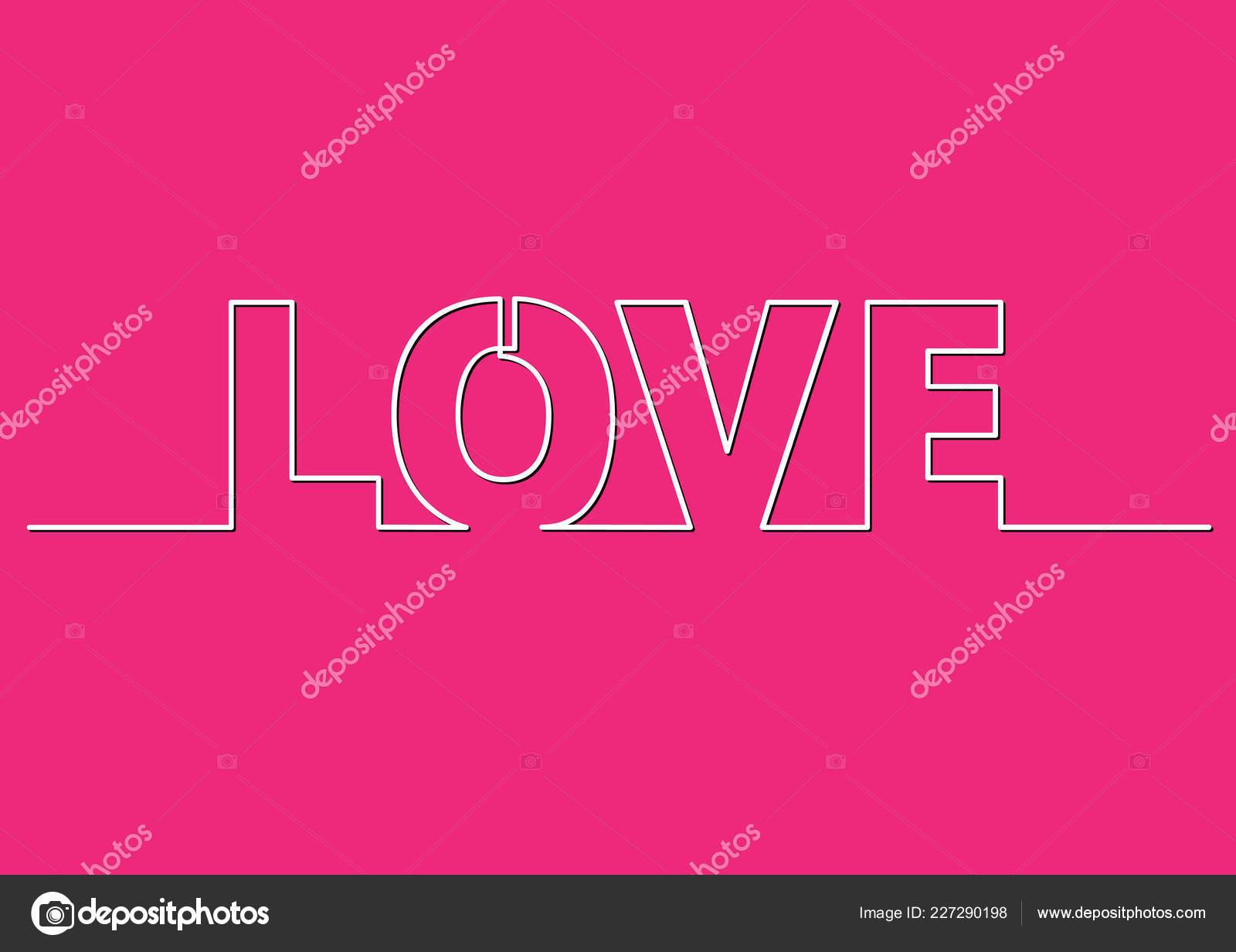 Desenho Linha Frase Amor Vetores De Stock Onelineman