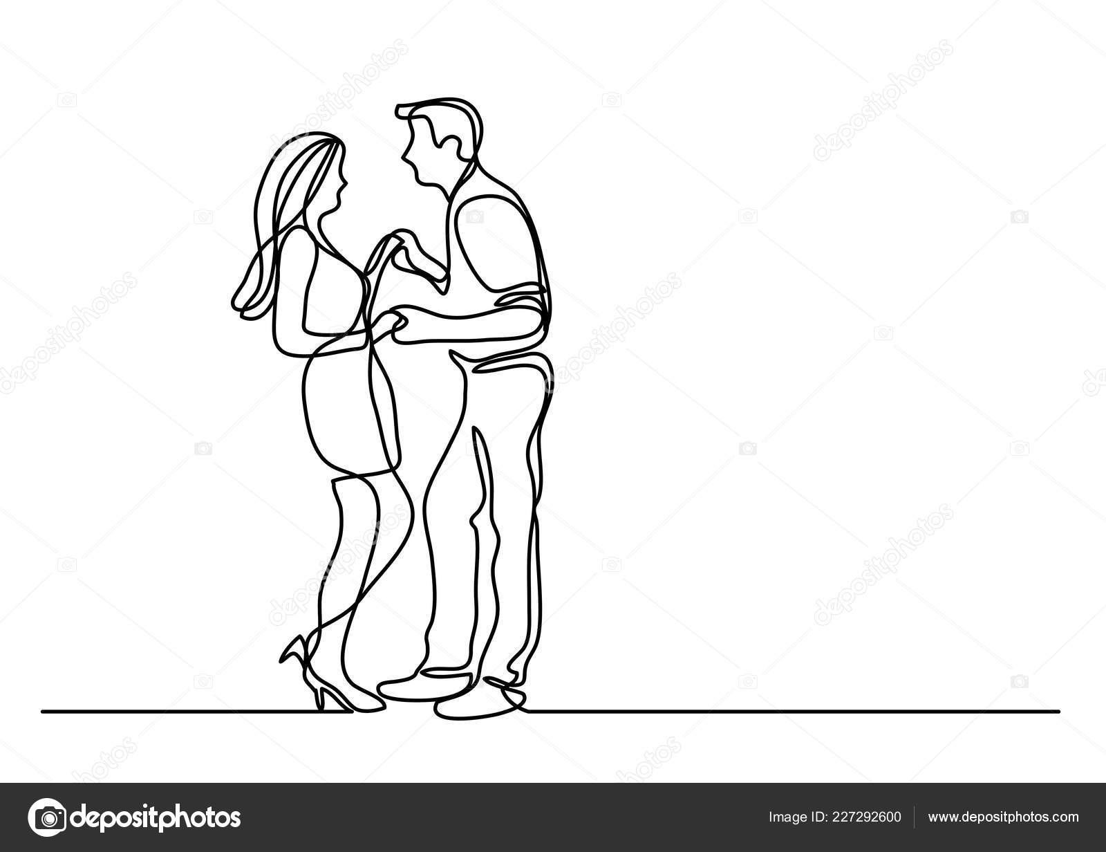 Dancing Couple Line Drawings Wiring Diagrams Circuit Board Maker Of Shenzhen Qld20 Qld China Continuous Drawing Stock Vector One Man Rh Depositphotos Com Black Base