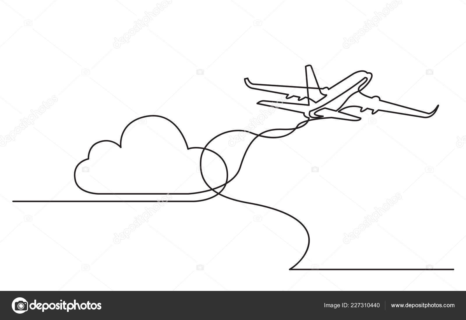 depart avion dessin