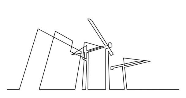 Önálló rajz animáció folyamatos fekete vonal, fehér háttér