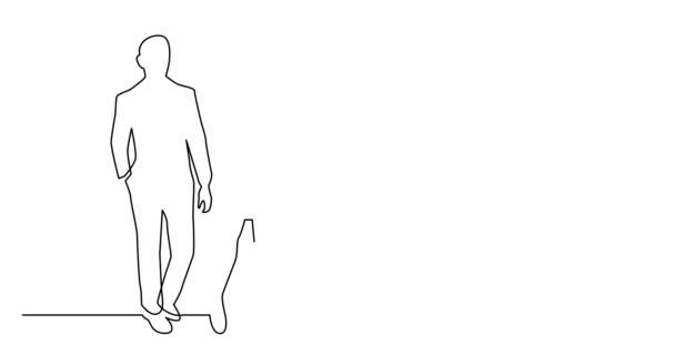 Animovaná čára vlastní kresby různorodé skupiny stálých lidí